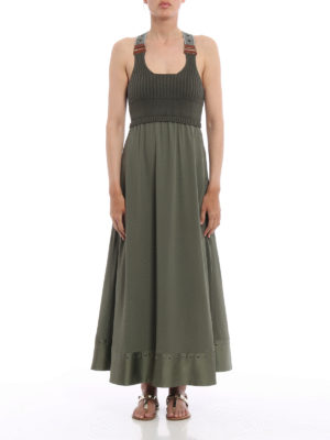 Fay: maxi dresses online - Sleeveless combo dress