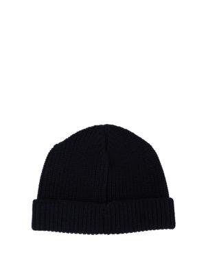 FAY: berretti online - Cappellino in lana blu scuro