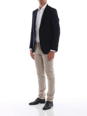 FAY: giacche blazer online - Blazer sartoriale in cotone Travel Jacket
