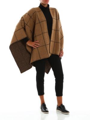 FAY: Mantelle e poncho online - Poncho in lana stile coperta a quadri