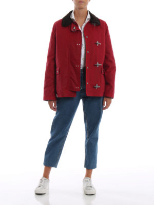 FAY: giacche casual online - Giacca iconica 4 Ganci rossa