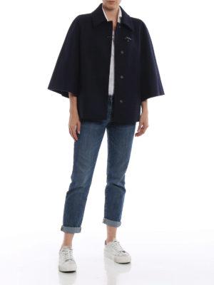 FAY: giacche casual online - Giacca stile mantella in misto lana blu