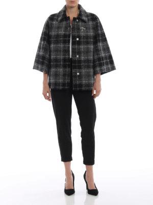 FAY: giacche casual online - Giacca stile cappa in lana e alpaca a quadri