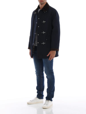 FAY: giacche casual online - Giaccone montgomery 4 ganci collo velluto