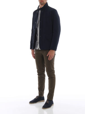 FAY: giacche casual online - Giacca in taffetà tecnico stretch blu scuro