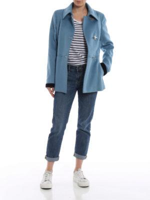 FAY: giacche casual online - Giacca in panno di lana e cashmere celeste
