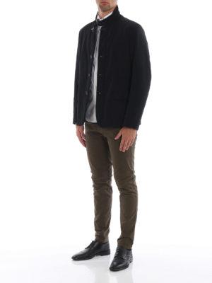 FAY: giacche casual online - Giacca nera in taffetà tecnico stretch