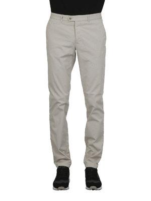 FAY: pantaloni casual online - Pantaloni slim in gabardina