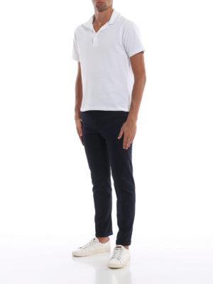 FAY: pantaloni casual online - Pantaloni blu scuro in morbido cotone