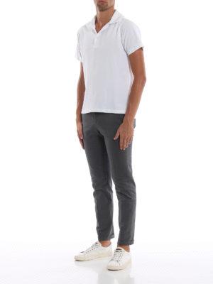 FAY: pantaloni casual online - Pantaloni grigi scuri in morbido cotone