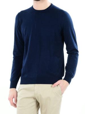 FAY: maglia collo rotondo online - Girocollo in cotone blu