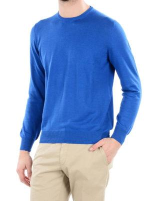 FAY: maglia collo rotondo online - Girocollo in cotone bluette