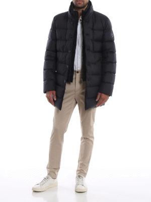 FAY: cappotti imbottiti online - Giaccone imbottito blu scuro con double front