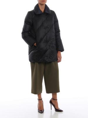 FAY: cappotti imbottiti online - Piumino nero con collo in piedi