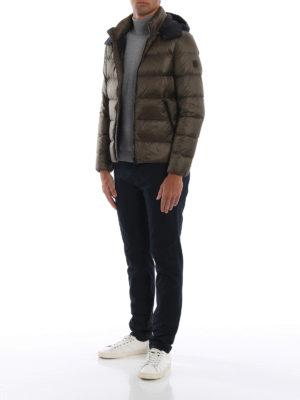 FAY: giacche imbottite online - Piumino con cappuccio a contrasto staccabile