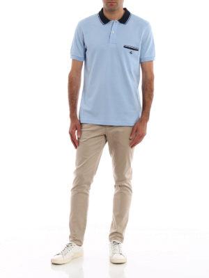 FAY: polo online - Polo azzurra con taschino