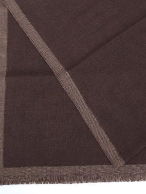 FAY: sciarpe e foulard online - Sciarpa classica in lana color cioccolato