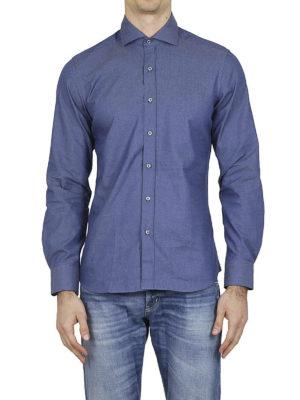 FAY: camicie online - Camicia in cotone Oxford blu