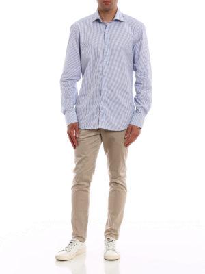 FAY: camicie online - Camicia in cotone a quadretti