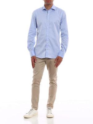 FAY: camicie online - Camicia in cotone azzurro lilla
