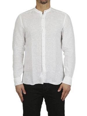 FAY: camicie online - Camicia in lino collo alla coreana