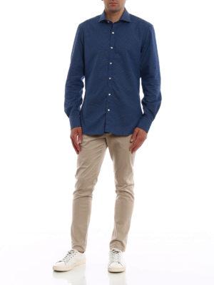 FAY: camicie online - Camicia in cotone a micro pois