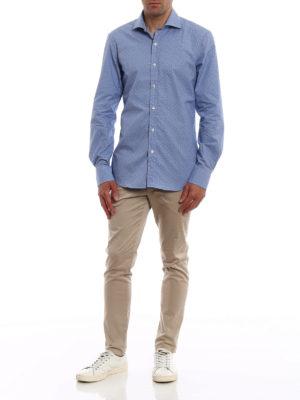 FAY: camicie online - Camicia in cotone motivo a pois