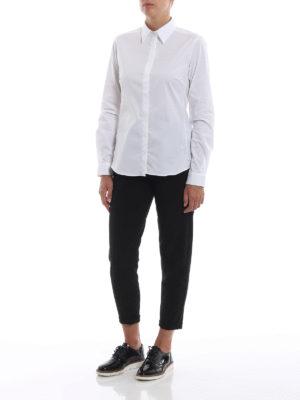 FAY: camicie online - Camicia in popeline di cotone stretch bianco
