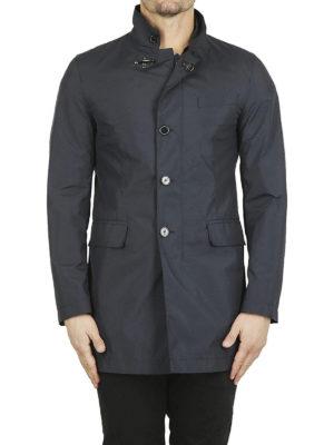 FAY: cappotti corti online - Impermeabile dritto blu