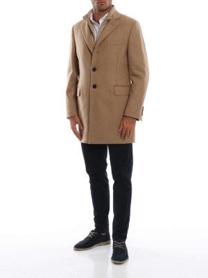 FAY: cappotti corti online - Cappotto in calda lana e cashmere con gilet