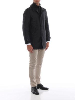 FAY: cappotti corti online - Impermeabile corto nero Morning