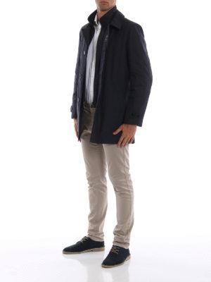 FAY: cappotti corti online - Impermeabile corto blu Morning