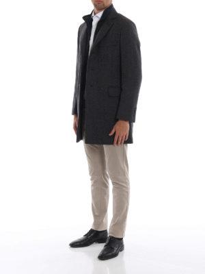 FAY: cappotti corti online - Cappotto in lana melange con gilet staccabile