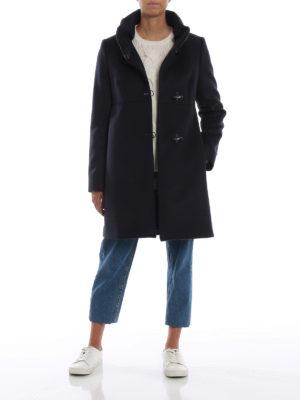 FAY: cappotti corti online - Cappotto Romantic blu in lana e cashmere