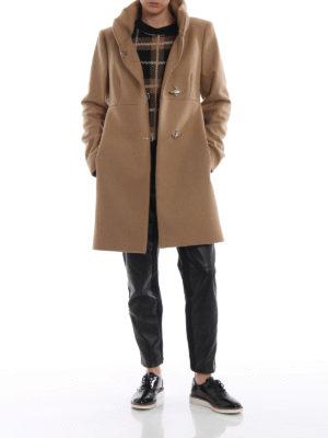 FAY: cappotti corti online - Cappotto Romantic cammello in lana e cashmere