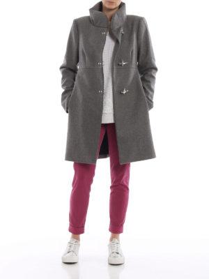FAY: cappotti corti online - Cappotto Romantic grigio in lana e cashmere