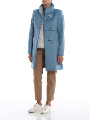 FAY: cappotti corti online - Cappotto Romantic celeste in lana e cashmere