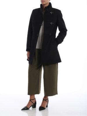 FAY: cappotti corti online - Cappotto Virginia nero in lana e cashmere