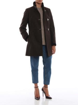 FAY: cappotti corti online - Cappotto Virginia marrone in lana e cashmere