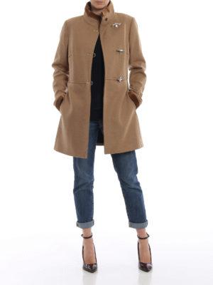 FAY: cappotti corti online - Cappotto Virginia in lana e cashmere cammello