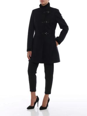 FAY: cappotti corti online - Cappotto Virginia in lana e cashmere blu