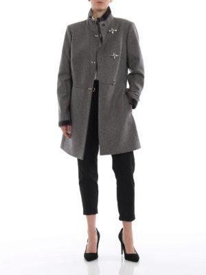 FAY: cappotti corti online - Cappotto Virginia in lana e cashmere grigio