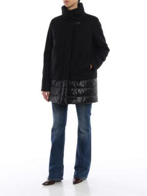 FAY: cappotti corti online - Cappotto in lana e cashmere inserti in nylon