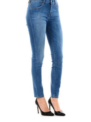 a sigaretta - Jeans in denim slavato