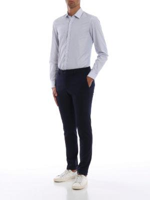 FAY: Pantaloni sartoriali online - Comodi pantaloni slim in viscosa punto stoffa