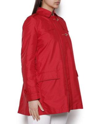 FAY: cappotti trench online - Trench rosso corto stile militare