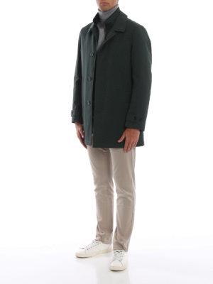 FAY: cappotti trench online - Trench verdone con double front imbottito