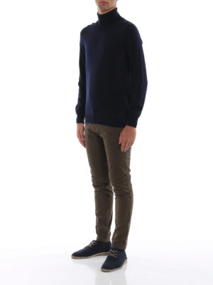 FAY: maglia a collo alto e polo online - Morbido dolcevita in lana vergine blu