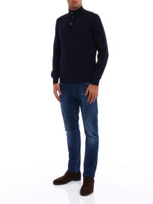 FAY: maglia a collo alto e polo online - Polo in lana con doppio collo