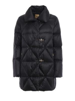 Fay: padded coats - Argyle quilted padded coat